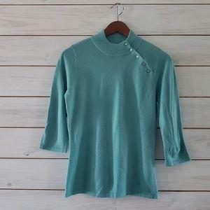 Designers Originals Button Neck Sweater
